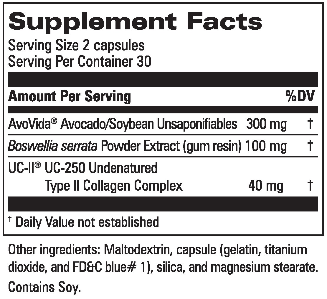Joint Formula Supplement Facts